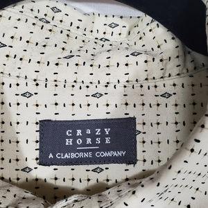 Claiborne Shirts - Crazy Horse Short Sleeve Button Down 2XL